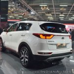 Kia Sportage rear three quarters at Auto Expo 2018