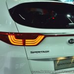 Kia Sportage tail lamp at Auto Expo 2018