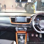 Kia Stonic dashboard at Auto Expo 2018
