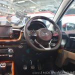 Kia Stonic dashboard driver side at Auto Expo 2018