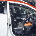Kia Stonic front seats at Auto Expo 2018