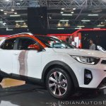 Kia Stonic front three quarters at Auto Expo 2018