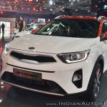 Kia Stonic front three quarters left side at Auto Expo 2018