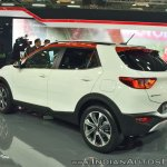Kia Stonic rear three quarters at Auto Expo 2018
