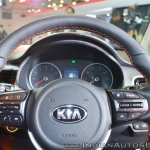 Kia Stonic steering wheel buttons at Auto Expo 2018