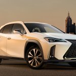 Lexus UX front three quarters right side