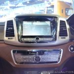 Mahindra Rexton centre console at Auto Expo 2018