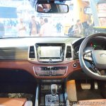 Mahindra Rexton dashboard at Auto Expo 2018