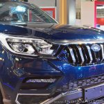 Mahindra Rexton front fascia side view at Auto Expo 2018