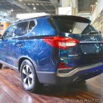 Mahindra Rexton rear three quarters left side at Auto Expo 2018
