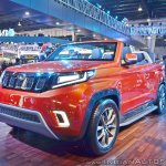 Mahindra TUV Stinger concept front three quarters left side at Auto Expo 2018