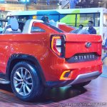 Mahindra TUV Stinger concept rear three quarters left side at Auto Expo 2018