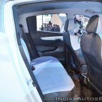 Mahindra e-KUV100 rear seats at Auto Expo 2018