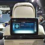 Mercedes-Maybach S 650 Saloon rear-seat entertainment system display at Auto Expo 2018