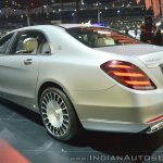 Mercedes-Maybach S 650 Saloon rear three quarters at Auto Expo 2018