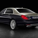 Mercedes-Maybach S-Class with customisations rear three quarters
