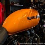 Royal Enfield Thunderbird 500X Orange fuel tank India launch