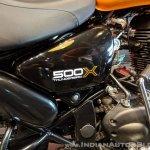 Royal Enfield Thunderbird 500X Orange side box India launch
