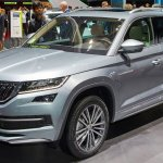 Skoda Kodiaq Laurin & Klement front three quarters at 2018 Geneva Motor Show