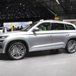 Skoda Kodiaq Laurin & Klement left side at 2018 Geneva Motor Show