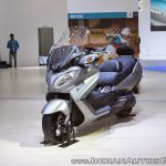 Suzuki Burgman 650 front left quarter at 2018 Auto Expo