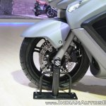 Suzuki Burgman 650 front wheel at 2018 Auto Expo