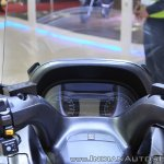 Suzuki Burgman 650 instrument cluster at 2018 Auto Expo