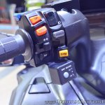 Suzuki Burgman 650 left switchgear at 2018 Auto Expo
