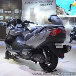 Suzuki Burgman 650 rear left quarter at 2018 Auto Expo