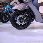 Suzuki Burgman Street front wheel at 2018 Auto Expo