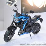 Suzuki GSX-S750 front left quarter at 2018 Auto Expo