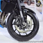 Suzuki GSX-S750 front wheel at 2018 Auto Expo