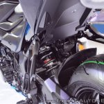 Suzuki GSX-S750 rear suspension at 2018 Auto Expo