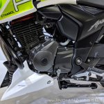 TVS Apache RTR 200 Fi Ethanol engine at 2018 Auto Expo