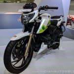 TVS Apache RTR 200 Fi Ethanol front left quarter at 2018 Auto Expo