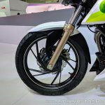 TVS Apache RTR 200 Fi Ethanol front wheel at 2018 Auto Expo