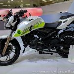 TVS Apache RTR 200 Fi Ethanol left side at 2018 Auto Expo