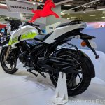 TVS Apache RTR 200 Fi Ethanol rear left quarter at 2018 Auto Expo