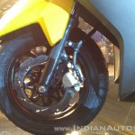 TVS Ntorq 125 India launch yellow front brake