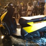TVS Ntorq 125 India launch yellow rear left quarter