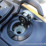 TVS Ntorq 125 fuel filler open first ride review