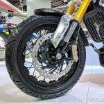 TVS Zeppelin Concept front wheel at 2018 Auto Expo