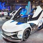 Tamo Racemo± EV front three quarters at Auto Expo 2018