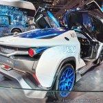 Tamo Racemo± EV rear three quarters at Auto Expo 2018