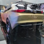 Tata 45X concept rear three quarters left side at Auto Expo 2018