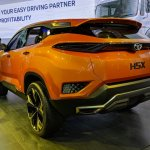 Tata H5X concept rear three quarters left side at Auto Expo 2018
