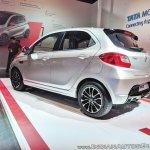 Tata Tiago JTP rear three quarters left side at Auto Expo 2018