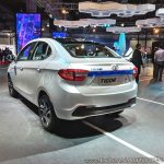 Tata Tigor EV rear three quarters at Auto Expo 2018