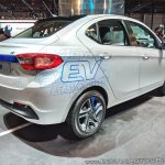 Tata Tigor EV rear three quarters right side at Auto Expo 2018
