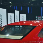 Toyota Yaris back glass and C-pillar at Auto Expo 2018